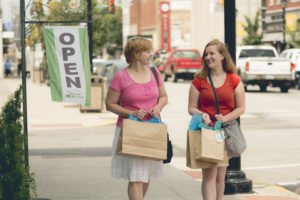 Shoppers strolling down High Street in Downtown Waynesburg