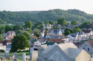 View of the north side of Waynesburg Pennsylvania