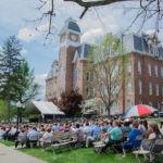 Waynesburg University Graduation in front of Miller Hall